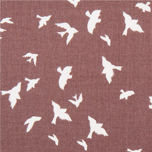 taupe bird martin fabric by Michael Miller flight USA