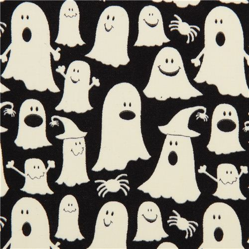 black glow in the dark ghost fabric glow ghosts