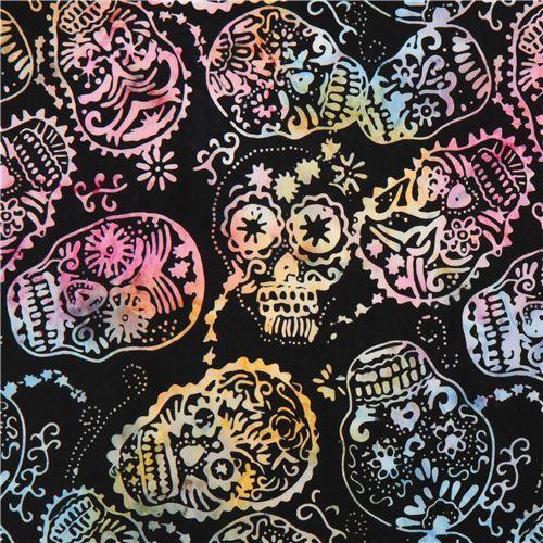 black skull fabric by Timeless Treasures Sugar Skulls