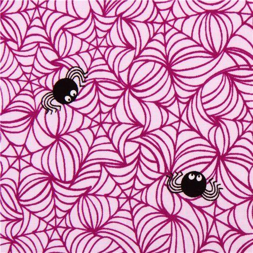 pale purple Riley Blake spider web fabric Halloween Magic
