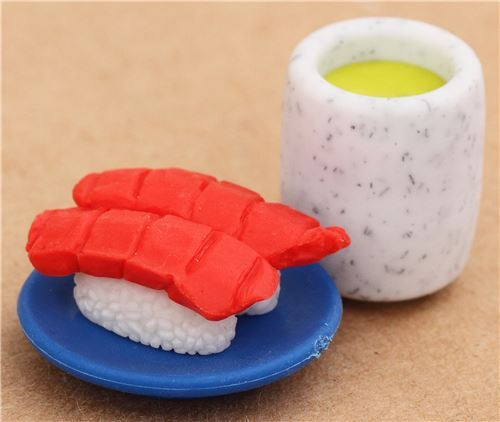 Tuna Sushi Nigiri green Tea macha eraser from Japan by Iwako
