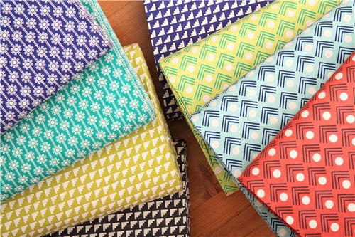 We carry these fabrics from Ellen Luckett Baker's collection Framework