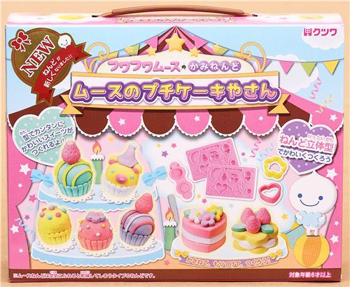 DIY paper mousse clay making kit birthday cake Japan