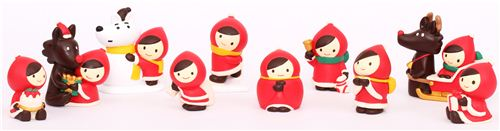 We have many new super cute Little red Riding Hood Christmas Figurines