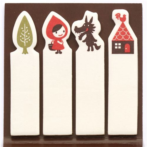 Little Red Riding Hood Post-it bookmark stickers