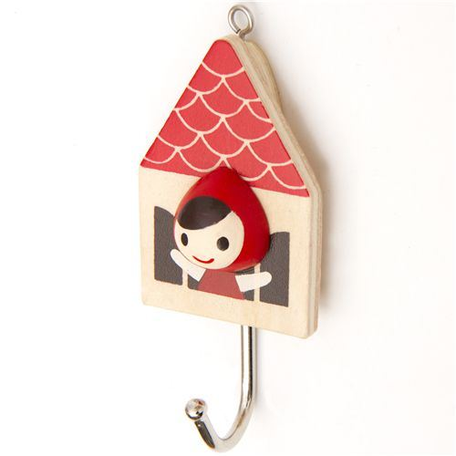 cute Little Red Riding Hood coat hook Otogicco Japan