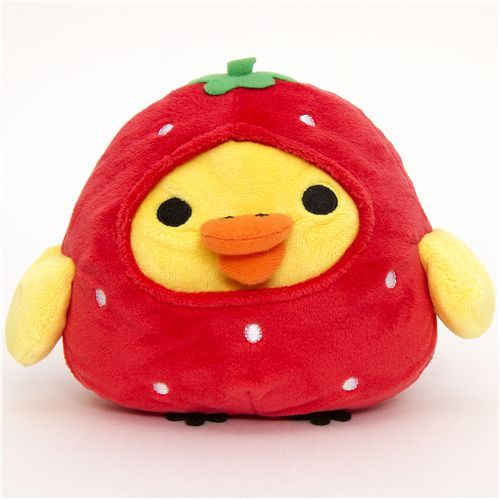Rilakkuma plush toy yellow chick as strawberry