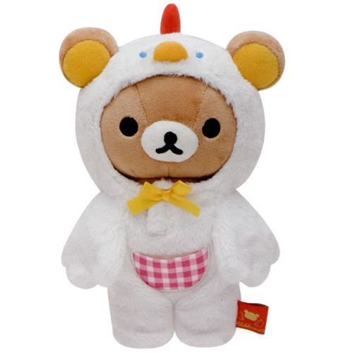 Rilakkuma Egg Kitchen plush toy in chicken costume
