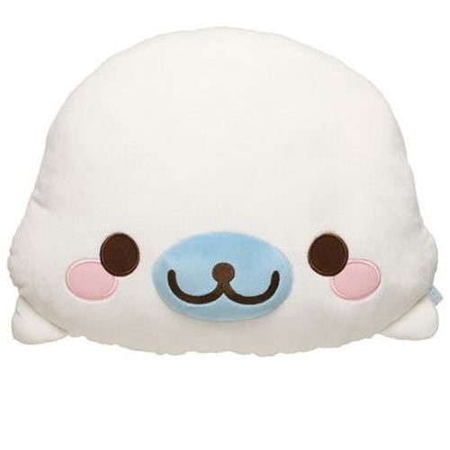white Mamegoma seal plush toy pillow by San-X