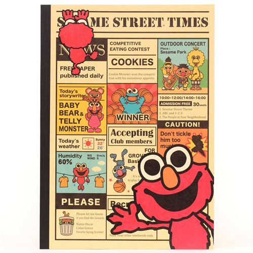 Sesame Street newspaper notebook exercise book Elmo Japan