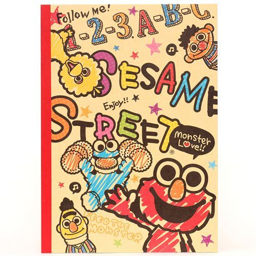 beige Sesame Street notebook exercise book Elmo from Japan