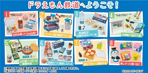 All 8 sets of the Doraemon train Re-Ment
