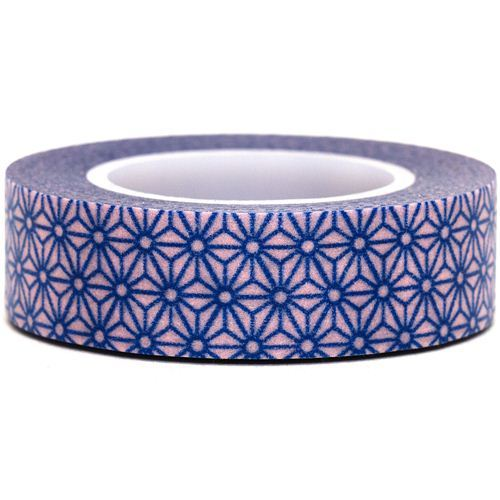 pink Washi Masking Tape deco tape blue flowers