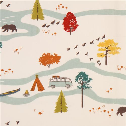 off-white Feather River Main camping forest poplin organic fabric birch USA