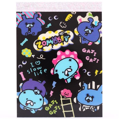 black Zombbit zombie rabbits mini Note Pad San-X