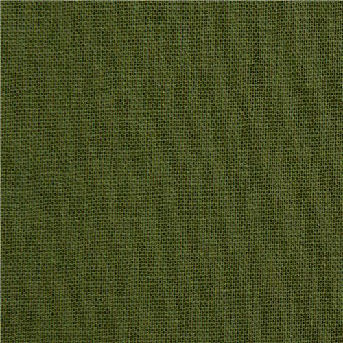 solid green echino canvas fabric from Japan
