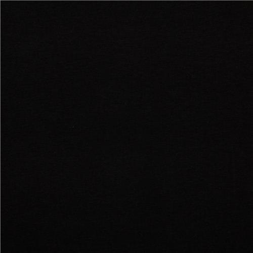 solid black Robert Kaufman knit fabric onyx