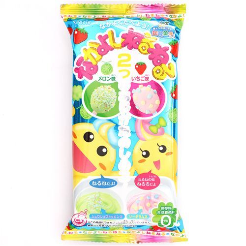 NeruNeru Nakayoshi Kracie Popin' Cookin' DIY candy paste kit melon strawberry