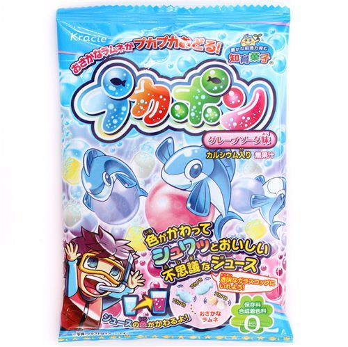 Pukapon fish shaped candy and drink Kracie Popin' Cookin' DIY