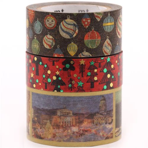 Christmas mt Masking Tape deco tape set 3pcs Christmas market tree