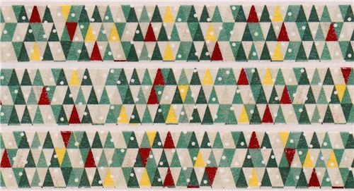 triangle Christmas tree Christmas mt Washi deco tape gold metallic