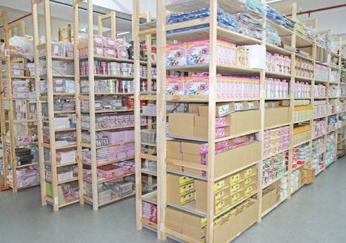 All the shelves are filled with our kawaii products