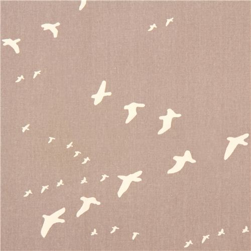 grey bird animal canvas organic fabric birch USA
