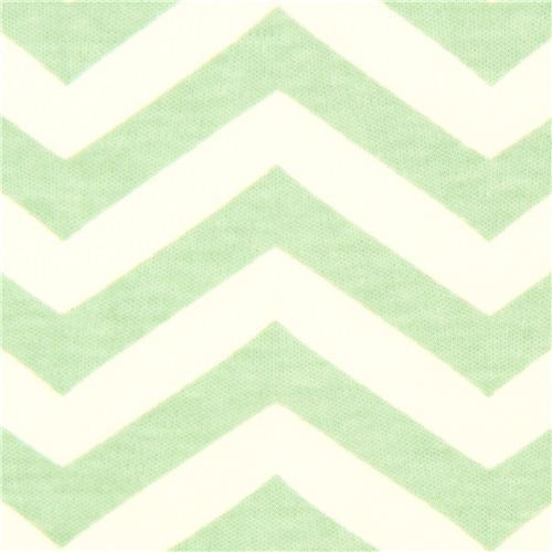 sea green chevron pattern organic knit fabric birch USA
