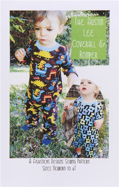 sewing pattern for Baby coverall and romper from the USA