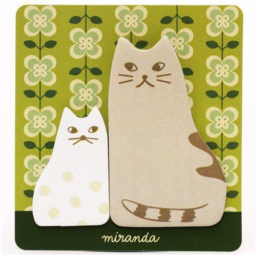 kawaii cat animal Post-it bookmark sticker Japan
