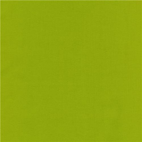 lime green laminate fabric by Robert Kaufman Kona Cotton Slicker