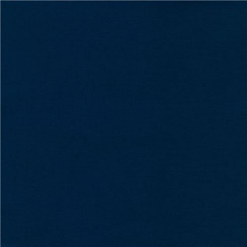 navy blue laminate fabric by Robert Kaufman Kona Cotton Slicker