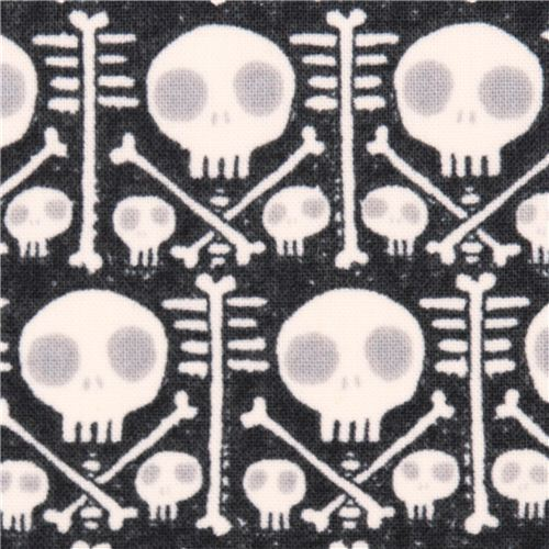 dark grey Cloud 9 skull X-Ray organic fabric Dem Bones