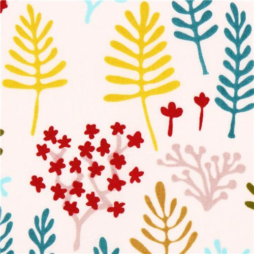 off-white Cloud 9 flower organic fabric Clearing