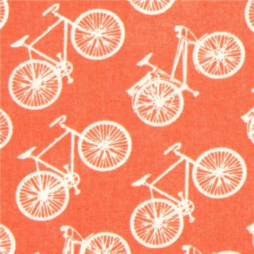 coral birch bike organic fabric from the USA