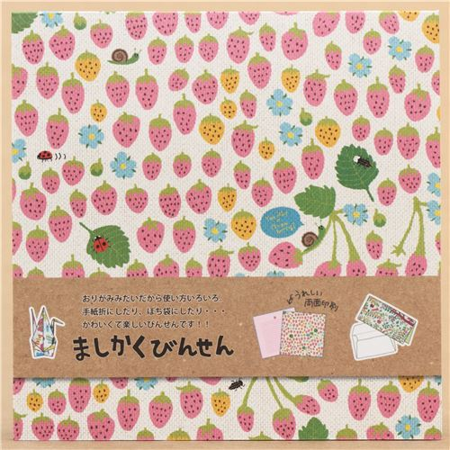 kawaii colorful strawberry Origami Note pad from Japan