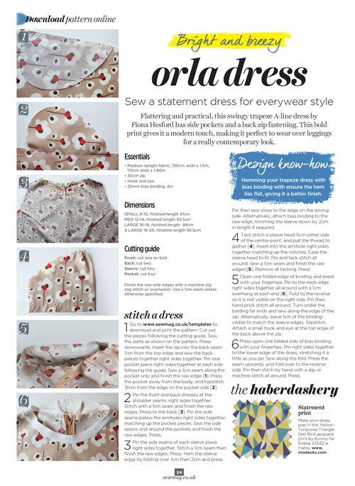 Make your own orla dress! Image courtesy of Sew Magazine.