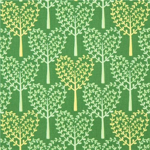 green heart tree fabric by Michael Miller USA