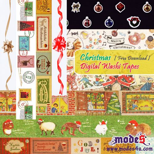 Click here to download super cute digital Christmas Masking Tapes