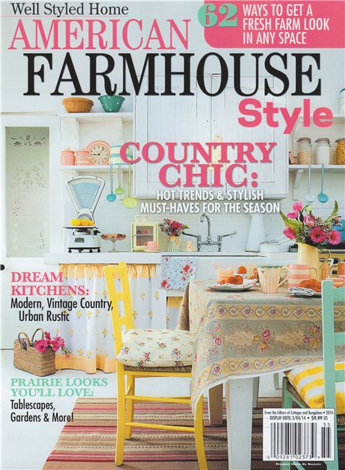 Our Washi Tape was featured in this issue of the American Farmhouse Style magazine