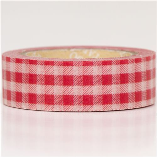 red gingham Washi Masking Tape deco tape