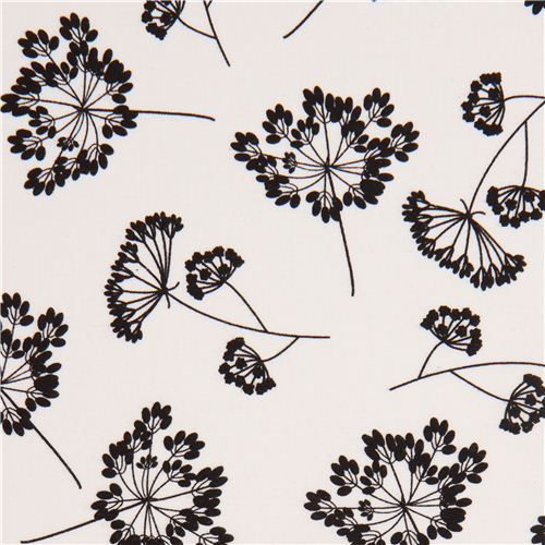 white wild flower fabric by Robert Kaufman USA