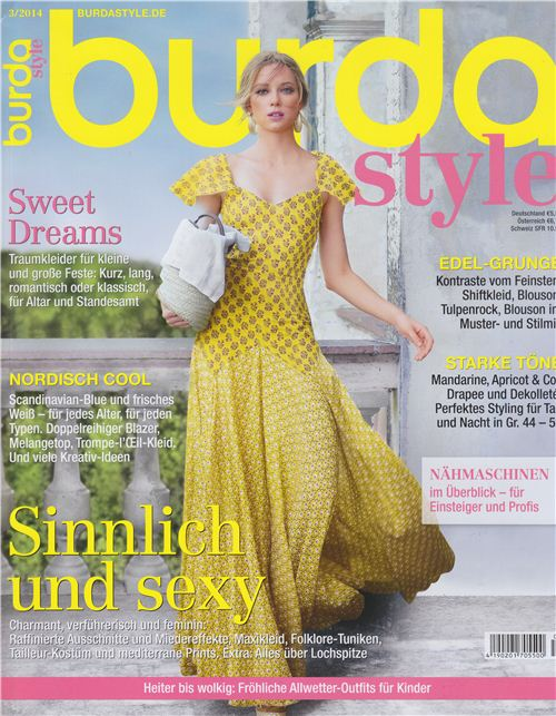 We are featured twice in the German burdastyle magazine