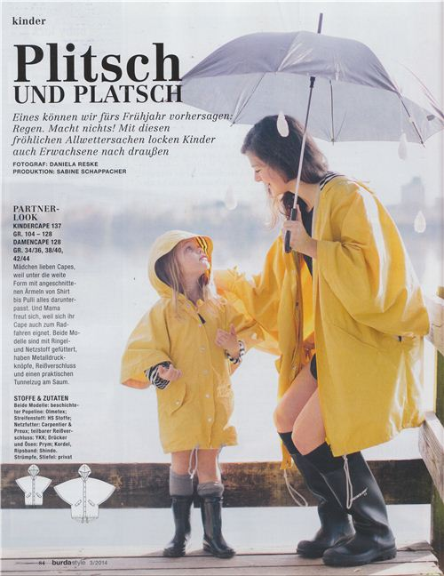 But some of our fabrics were also used for a series about rainclothes for spring