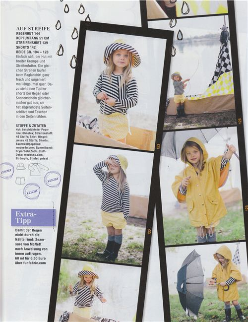 The cute girl's shorts are made with our yellow organic polka dot fabric by birch