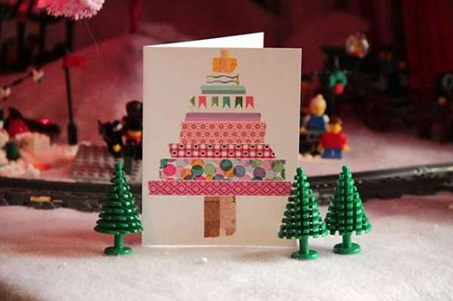 A lovely DIY Washi Tape Christmas card.