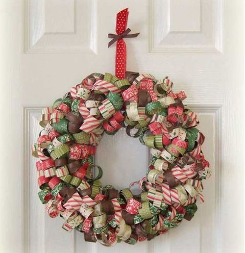 An amazing self-made deco tape wreath.