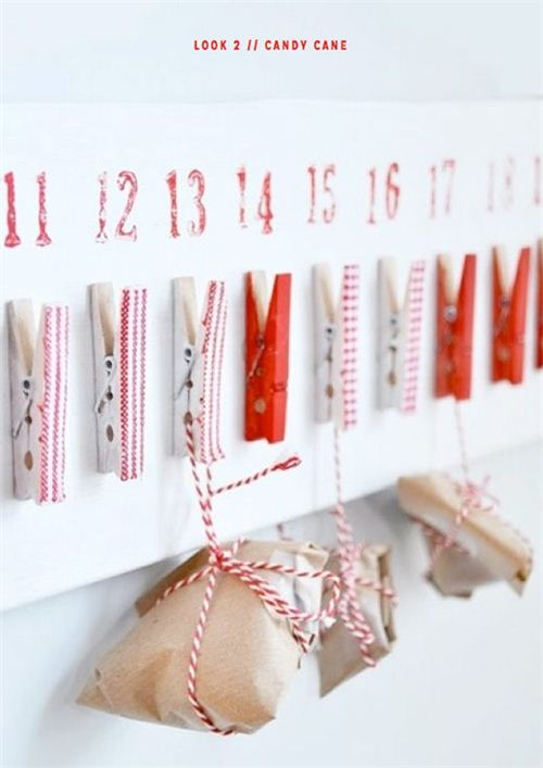 So versatile: Clothes-peg advent calendar by brightbazaarblog.com