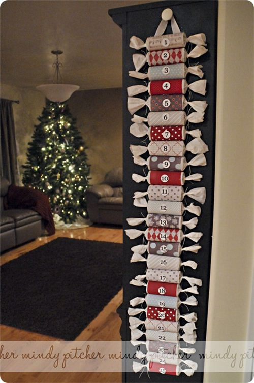 great toilet paper roll advent calendar by thecraftyblogstalker.com