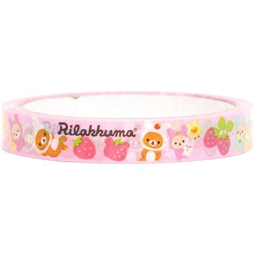 Rilakkuma bear Deco Sticky Tape strawberry rabbit